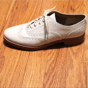 Sperry ashbury ivory leather oxford wingtip shoes